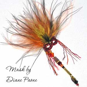 Miniature Carnival Mask by Diane Paone