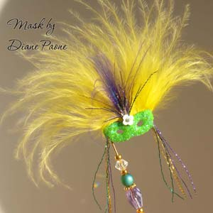 Miniature Masquerade Mask by Diane Paone