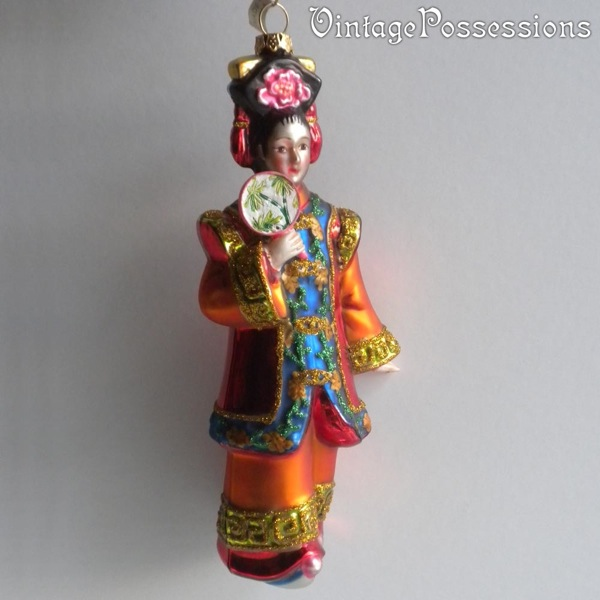 Chinese Princess Asian Woman - Christmas Ornament Blown ...